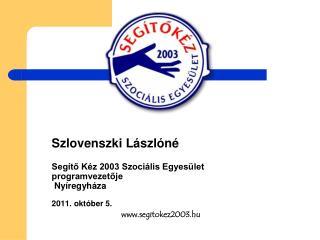 Szlovenszki Lászlóné