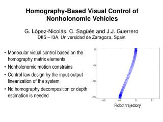 Homography-Based Visual Control of Nonholonomic Vehicles