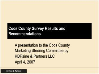 Coos County Survey Results and Recommendations