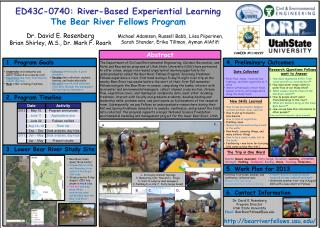 ED43C-0740: River-Based Experiential Learning The Bear River Fellows Program
