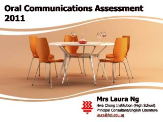 Oral Communications Assessment 2011