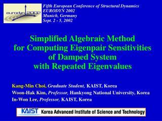 Kang-Min Choi, Graduate Student, KAIST, Korea