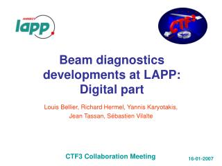 Beam diagnostics developments at LAPP: Digital part