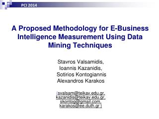 A Proposed Methodology for E-Business Intelligence Measurement Using Data Mining Techniques