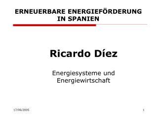 ERNEUERBARE ENERGIEFÖRDERUNG IN SPANIEN