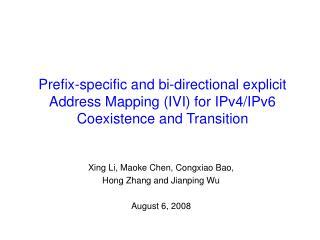 Xing Li, Maoke Chen, Congxiao Bao,  Hong Zhang and Jianping Wu August 6, 2008