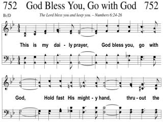 This is my dai - ly prayer, God bless you, go with