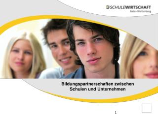 Bildungspartnerschaften zwischen Schulen und Unternehmen