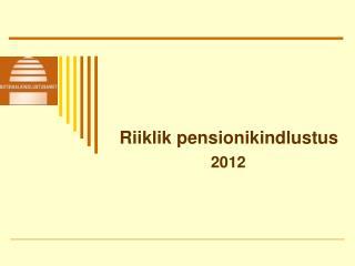 Riiklik pensionikindlustus