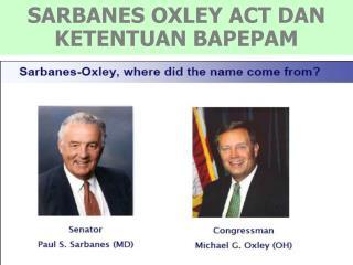 SARBANES OXLEY ACT DAN KETENTUAN BAPEPAM
