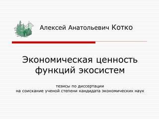 Алексей Анатольевич Котко