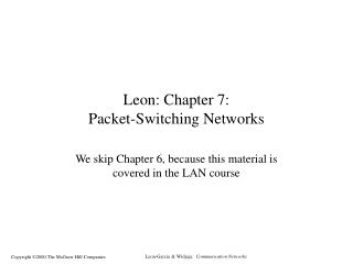 Leon: Chapter 7: Packet-Switching Networks