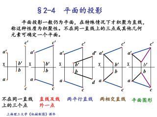 §2-4 平面的投影