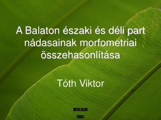A Balaton északi és déli part nádasainak morfometriai összehasonlítása