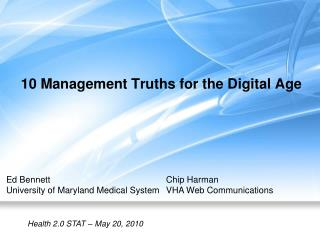 10 Management Truths for the Digital Age