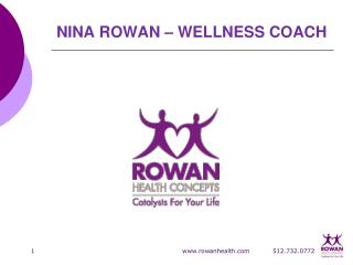 NINA ROWAN – WELLNESS COACH