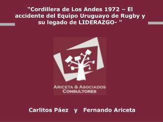 """""""Cordillera de Los Andes 1972 – El accidente del Equipo Uruguayo de Rugby y su legado de LIDERAZGO- """""""