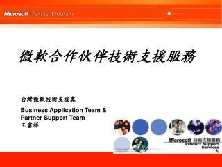 微軟合作伙伴技術支援服務