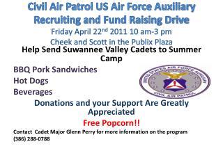 Help Send Suwannee Valley Cadets to Summer Camp BBQ Pork Sandwiches