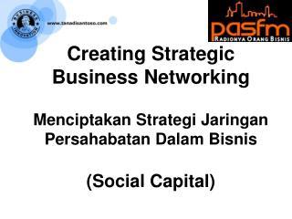 Guan Xi: Strategic Business Networking: