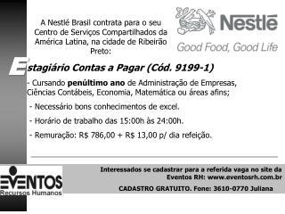 stagiário Contas a Pagar (Cód. 9199-1)