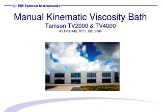 Manual Kinematic Viscosity Bath Tamson TV2000 & TV4000 ASTM D445, IP71, ISO 3104