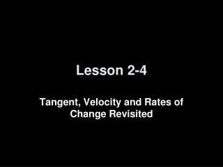 Lesson 2-4