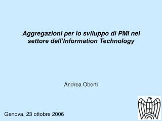 Aggregazioni per lo sviluppo di PMI nel settore dell'Information Technology