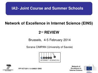 IA2-  Joint Course and Summer Schools