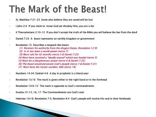 The Mark of the Beast!