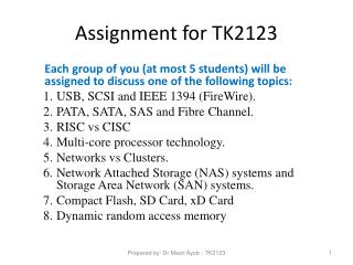 Assignment for TK2123