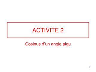 ACTIVITE 2