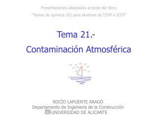 """Presentaciones adaptadas al texto del libro: """"Temas de química (II) para alumnos de ITOP e ICCP"""""""