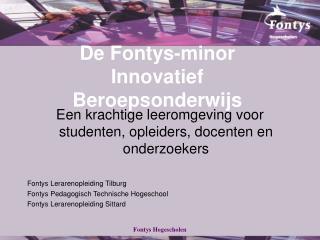 De Fontys-minor Innovatief Beroepsonderwijs
