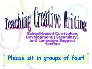 School-based Curriculum Development (Secondary) and Language Support Section