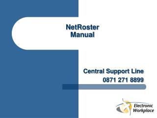 NetRoster Manual