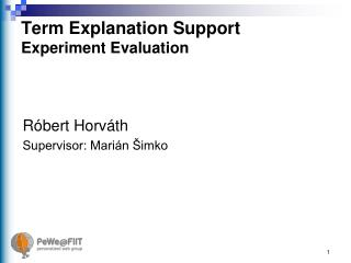 Term Explanation Support Experiment Evaluation