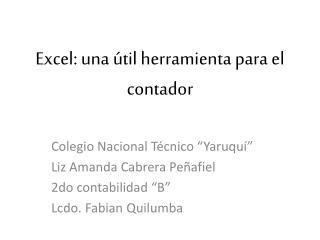 Excel: una útil herramienta para el contador