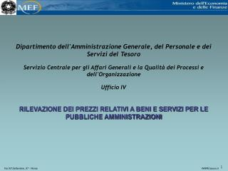Dipartimento dell'Amministrazione Generale, del Personale e dei Servizi del Tesoro