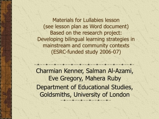 Developing bilingual learning strategies in mainstream and community contexts