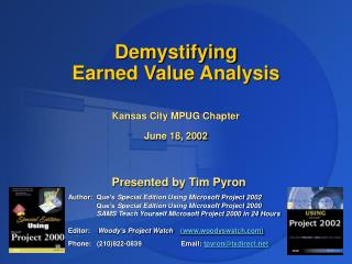 Demystifying  Earned Value Analysis