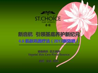 4.6 肌肤巩固疗法( 2013 新防晒)