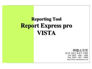 Reporting Tool Report Express pro VISTA