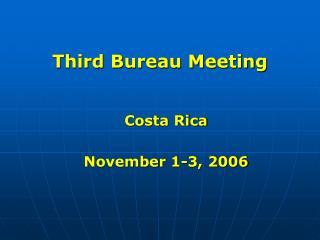 Third Bureau Meeting