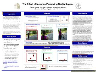 The Effect of Mood on Perceiving Spatial Layout