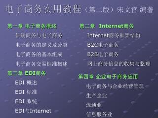 电子商务实用教程 (第二版)宋文官 编著