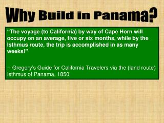 Why Build in Panama?
