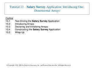 Tutorial 13 – Salary Survey Application: Introducing One-Dimensional Arrays