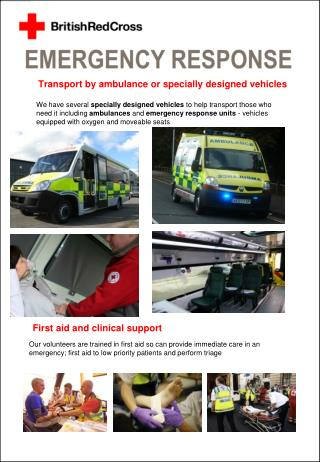 Transport by ambulance or specially designed vehicles