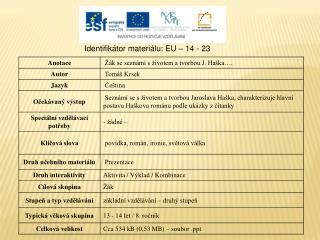 Identifikátor materiálu: EU – 14 - 23
